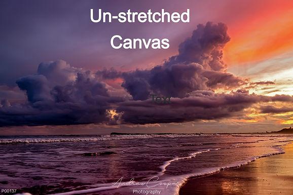 Un-stretched Canvas