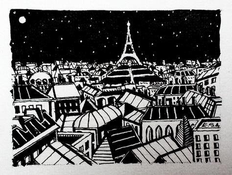 La Tour Eiffel dans la nuit