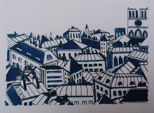 Paris - bleu et blanc