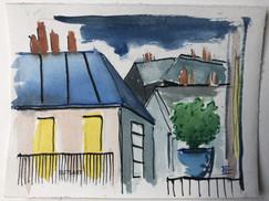 Croquis les toits de Paris - recherches