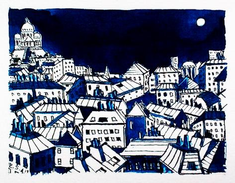 Montmartre en nuit