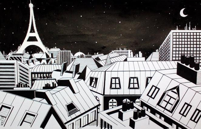 Vue sur les toits de Paris