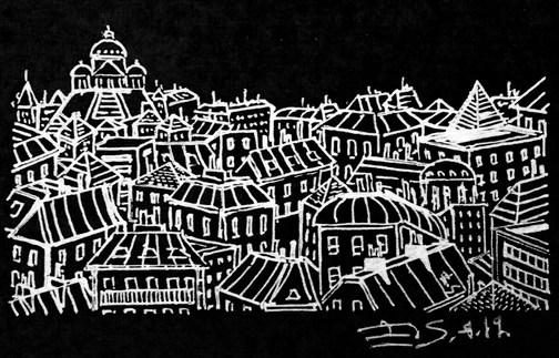 Montmartre en noir et blanc - les toits