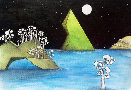 Sous la lune