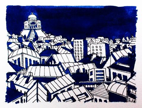 Paris Montmartre ciel bleu