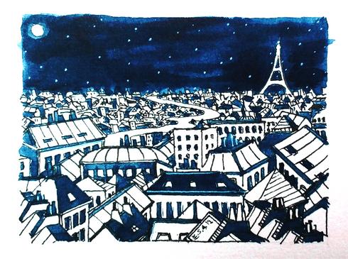 Les toits de Paris - vue sur la Tour Eiffel