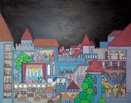 Le village dans le chateau