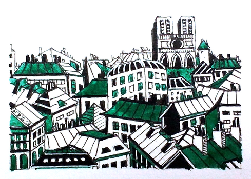 Les Toits de Paris- vision en vert