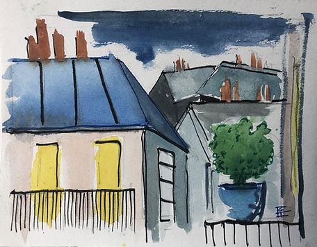 Les toits de Paris - recherches