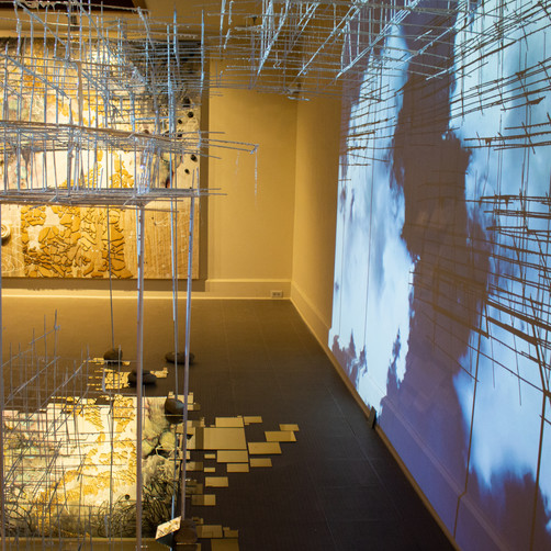 Installation view:  Cloud Architecture and Palimpsest