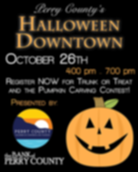 Perry County Halloween Downtown Graphic.
