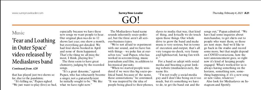 Mediaslaves - Surrey Now-Leader Newspaper