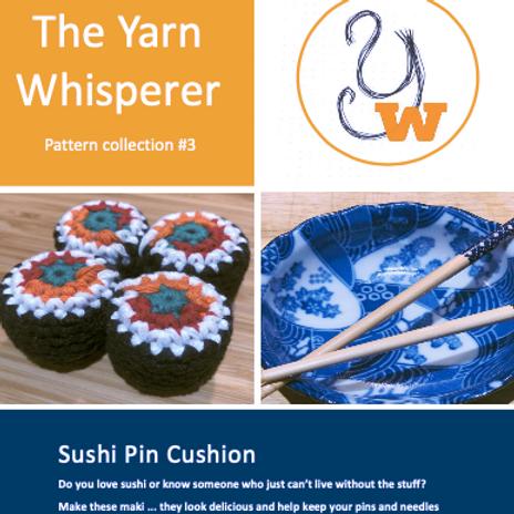 Sushi Pin Cushion Crochet Pattern