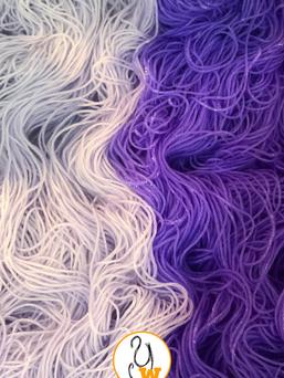 lilac and lavender soaking hanks
