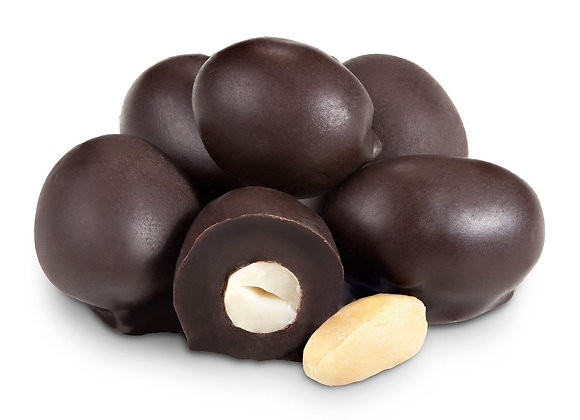 Dark Chocolate Double Dipped Peanuts 1/4