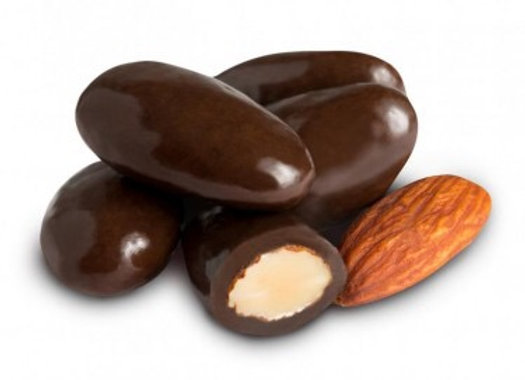 Dark Chocolate covered Almonds 1/4 pound