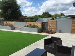 Modern family garden.