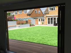 Artificial lawn for a busy family.