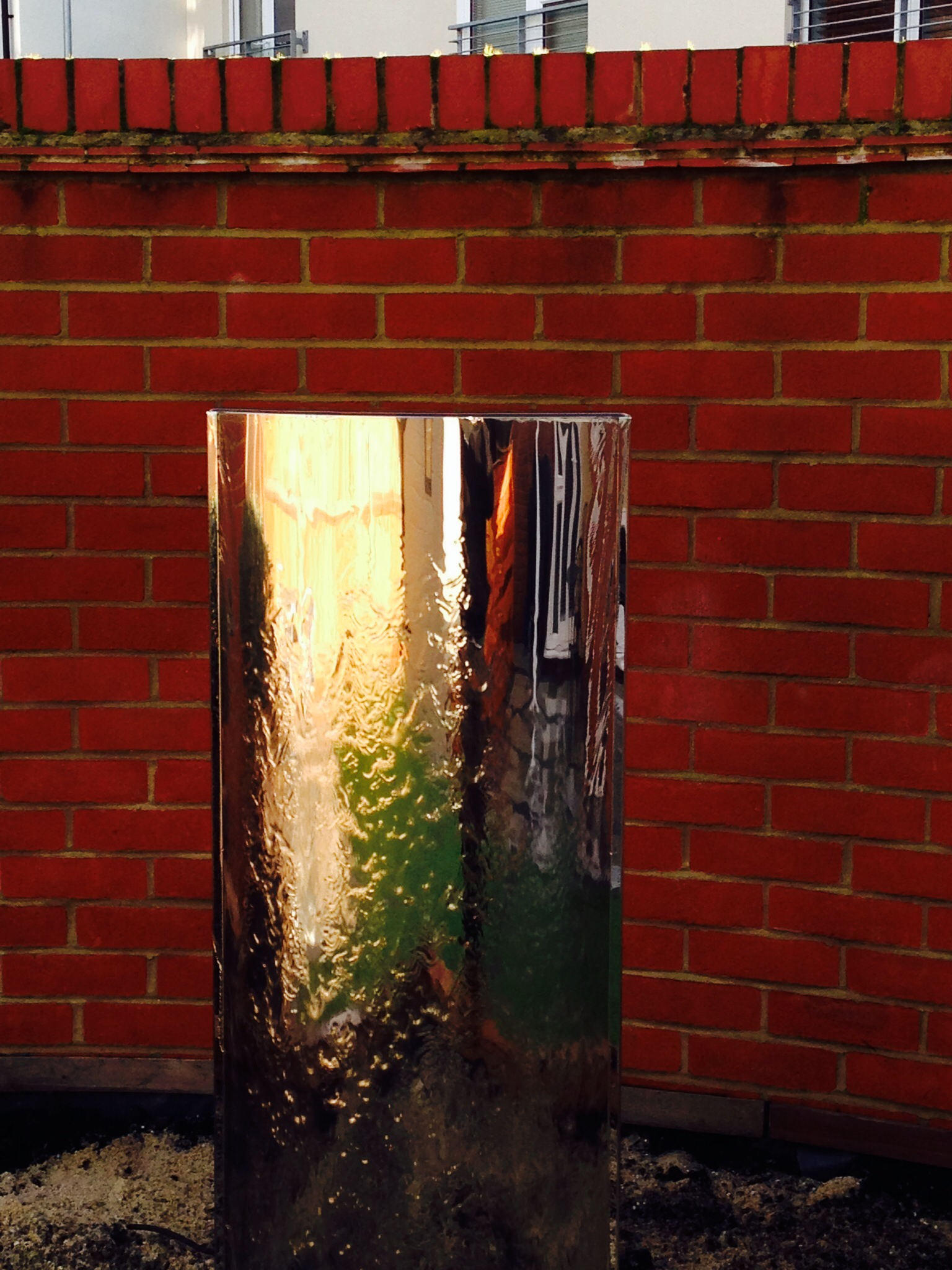 stainless water feature