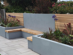 Rendered beds and cedar cladding.