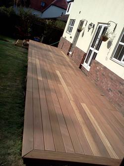 New hardwood deck