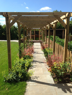 Bespoke pergola to fit new pathway