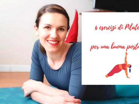 6 esercizi di Pilates per migliorare la postura