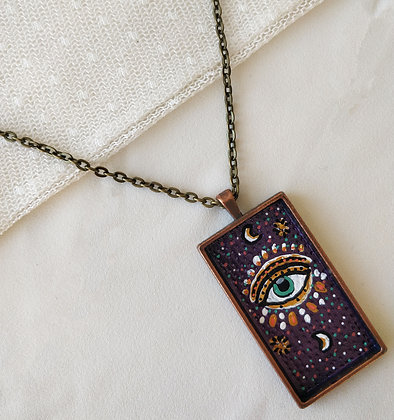 Intuitive Eye Large Hand-Painted Necklace