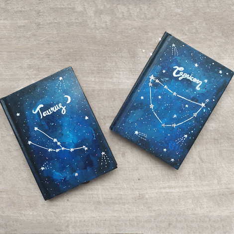 Paint A Star Sign Notebook