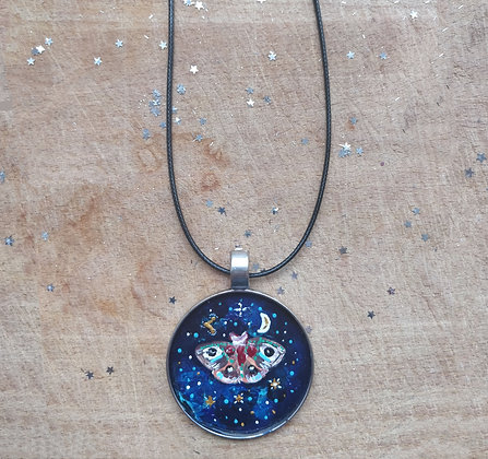 Dragon Fly Painted Necklace
