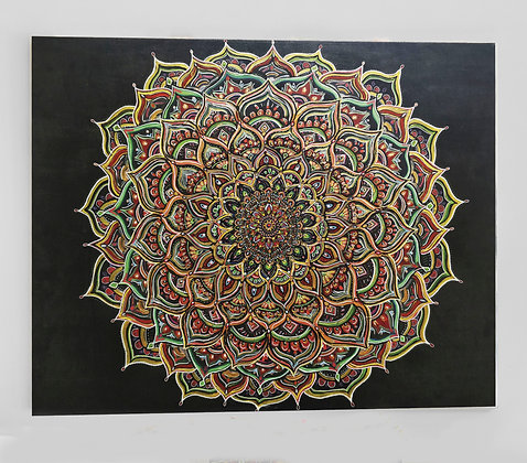 "Mandala 31"" x 39"" Original Painting On Canvas"