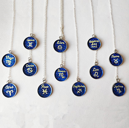 Star Sign Round Necklaces | Choice of 12 Designs