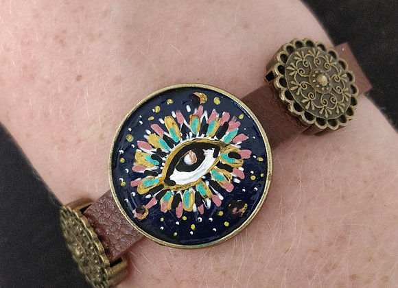 Intuitive Eye Hand Painted Bracelet