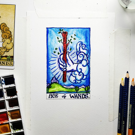 Paint Traditional Tarot Cards