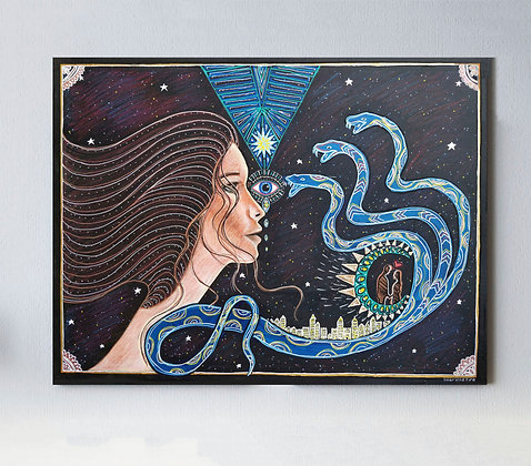 "Spiritual Awakening 26"" x 32"" Original Painting On Canvas"
