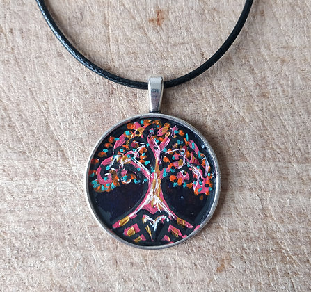 Tree of Life Hand Painted Necklace