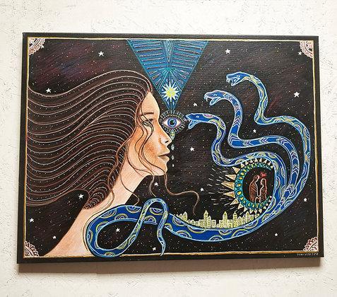 Spiritual Awakening 65cm x 80cm Original Painting