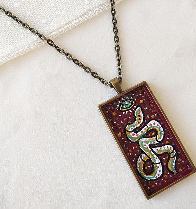 Kundalini Snake Large Hand-Painted Necklace