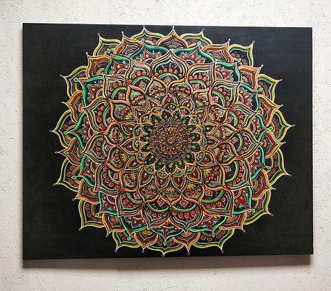 """Mandala 31"""" x 39"""" Original Painting"""