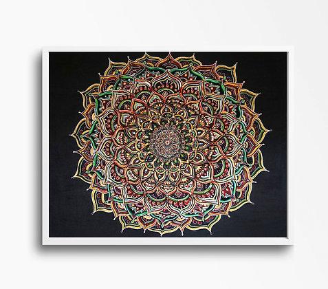 Mandala Print | A4 & A3 Size