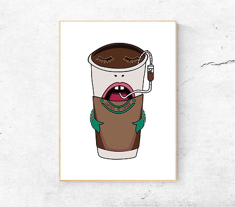 Coffee Lover | A4 & A3 Size