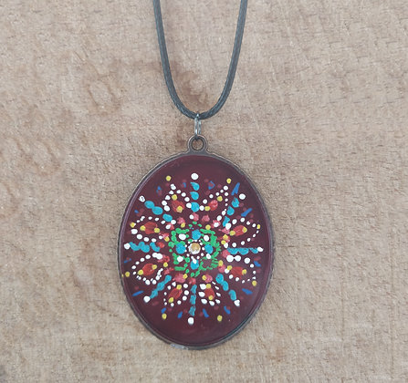 Floral Hand Painted Necklace