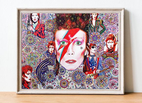 David Bowie Print   A4 & A3 Size