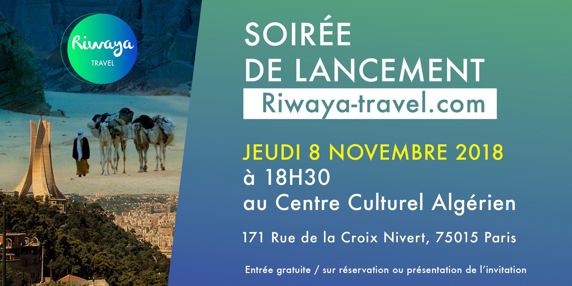 Soirée de lancement Riwaya Travel