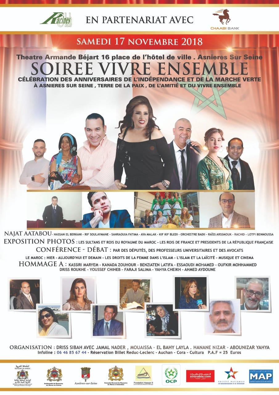 Soirée Vivre Ensemble Maroc