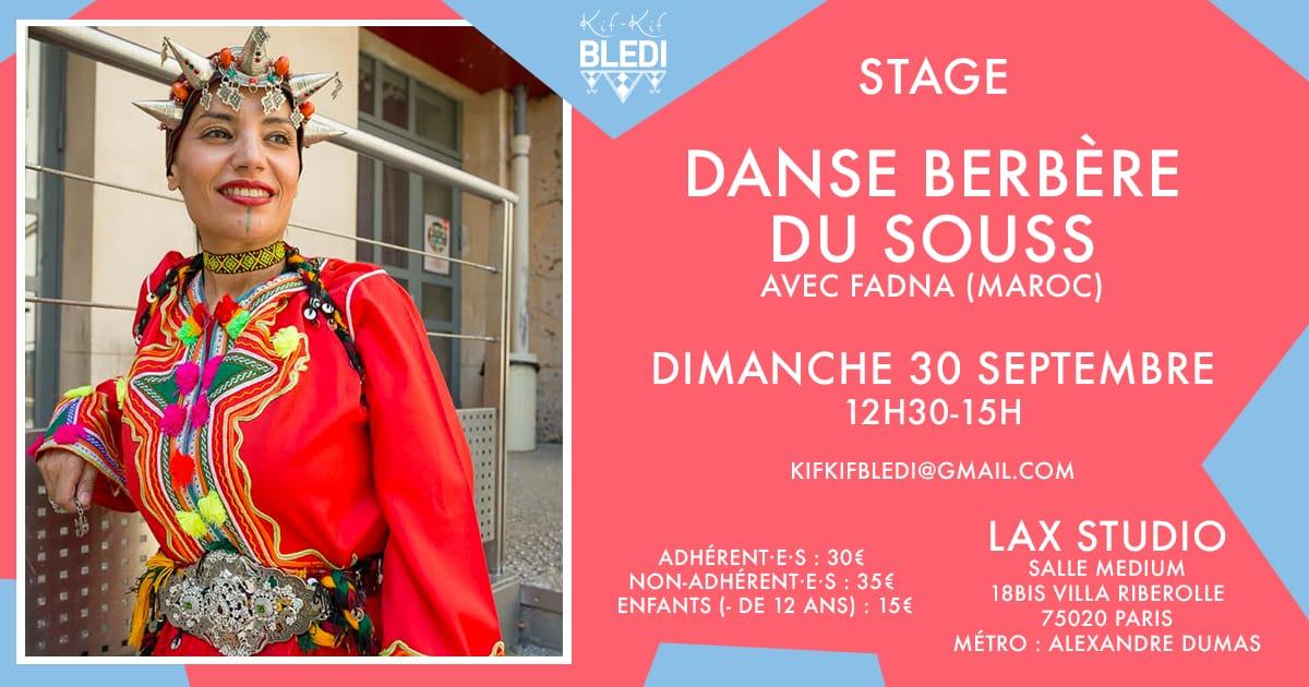 Stage danse berbère Maroc