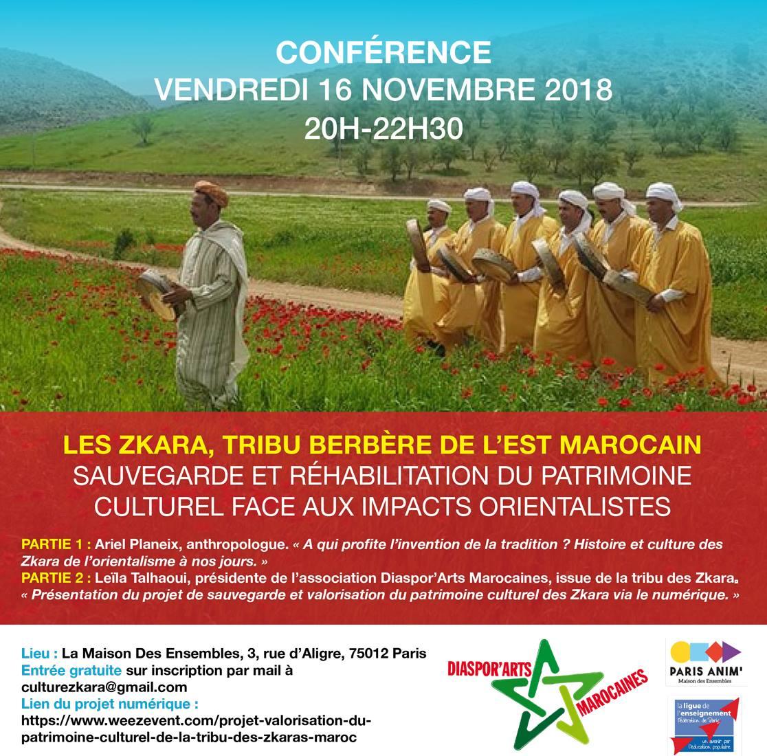 Conférence : les Zkara, tribu