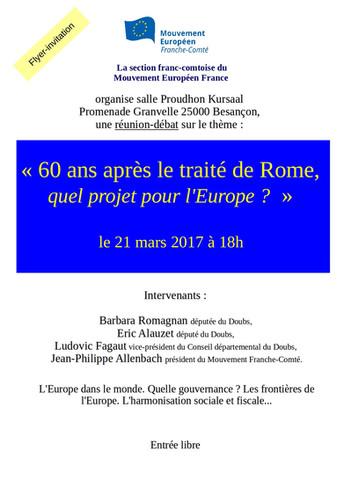 60 ans après le traité de Rome, quel projet pour l'Europe ?