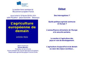 L'agriculture européenne de demain ?
