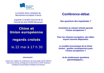Chine et UE : regards croisés